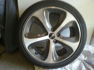 4 Hankook 18 inch low profile tires with alloy rims