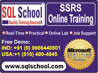 Best Project Oriented Online Training On SQL Server Reporting Se