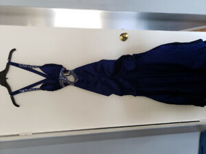 Royal blue dress with sequence