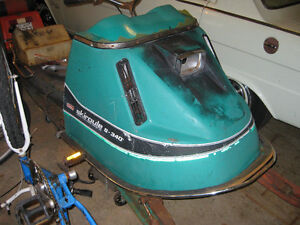Three vintage sleds for sale for parts or to restore .