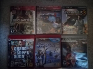 6 ps3 games 10$ each