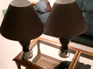 Chocolate Brown Lamps