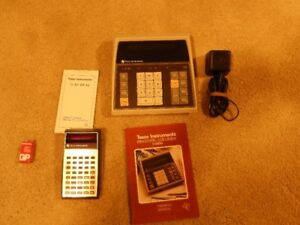 2 vintage Texas Instrument calculators from 1970's