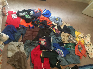 60 items of boys clothes size 12 to 24 months