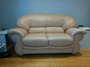 2 seats leather couch cost 1500$ urgent sale