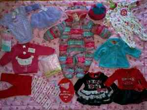 BrandNew  Babygirl 0-3 mth Winter suit + Clothes Reg $200