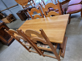 Refectory Dining Table & 4 Matching Chairs