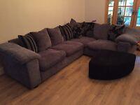 Grey left hand corner couch