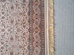 Persian carpet area rug beige patterned Like new condition London Ontario image 2