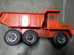 Vintage Buddy L Hydraulic Big Mack Dump Truck Pressed Steel Toy