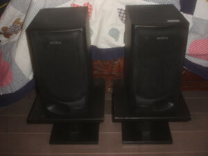 Pair Of Sony SS-M55 Surround Sound Speakers 6Ω 60W Max L + R