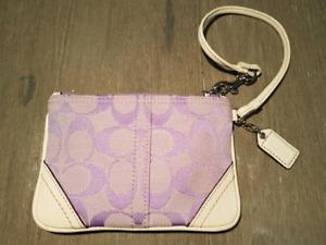 COACH Signature C Purple/White Wristlet [WALLET]