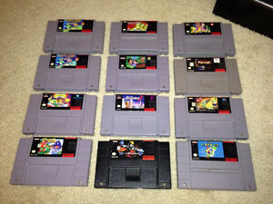SNES Games. Donkey Kong 1, 3. Super Mario World, Mario All Stars