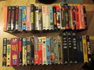 VCR VHS Cassette Tape Lot HORROR Science Fiction Fantasy Vintage