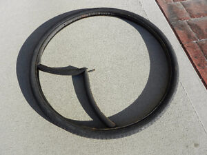 "A used bike tire 26 X 1 3/8"", including tube"