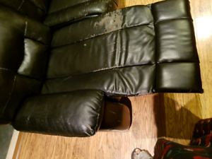 Faux Leather Recliner Sofa and Loveseat