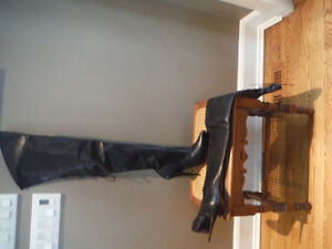 Stunning Leather Thigh Boots - SIZE 13B