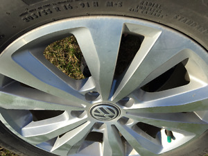 summer tires 205/55 R16 used 2 months