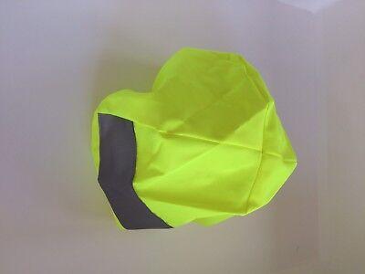 Hi Viz Cycle Helmet Cover Waterproof Unisex NEW UK