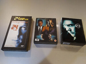 DVD sets of Seasons 1 2 and 3 of the action series 24
