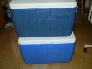 Large 38L Coolers - Coleman,Igloo, Rubbermaid.