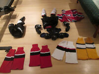 Pre-novice hockey gear, complete set