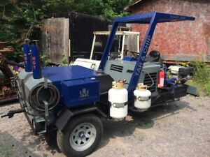Tube fired tar sprayer, Tailgate spreader, Storage tank