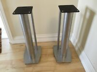 Mission Stance Speaker Stands (Pair) - Silver. For Sale £30