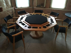 Card table with 6 chairs