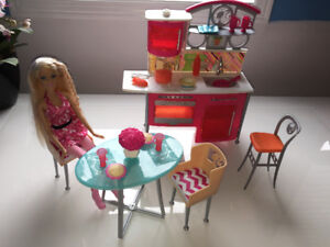 Doll house and Barbie furniture