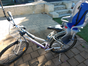 Giant womans bike with toddler seat