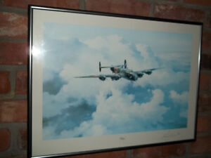 SIGNED MILITARY PRINT OF THE HALIFAX 16 X 21.5