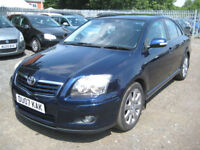"""2007/07 Toyota Avensis 2.0D-4D TR Nav Edition in Met Blue """" ONLY £1995 """""""