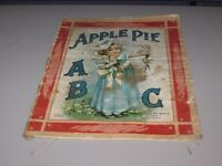 Antique McLouglin Bros. New York Linen Book Apple Pie A B C