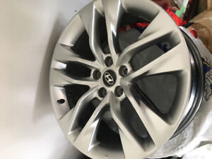Two 19 inch Genesis Coupe Rims