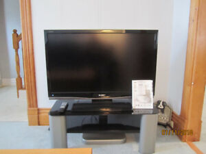 """Sharp Aquos 42"""" LCD Television Set with TV Stand"""