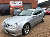 2008 Mercedes-Benz C200 2.1TD SE Silver 3dr Coupe, *ANY PX WELCOME**
