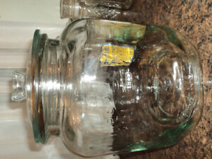 Set of Planter Peanut Glass Containers-Reduced $60.00