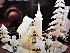 very cute Christmas /Winter  scene  comes with the box.