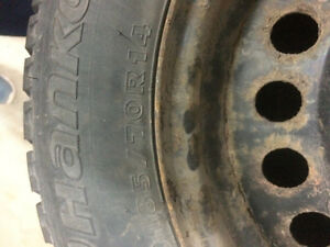 185/70/R14 Studded winter hankook tires $275 obo