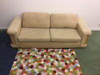 Large 3&2 Cream Fabric Sofa's For Sale