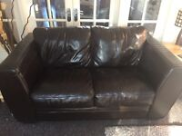 Brown Leather 2 seater sofa. REDUCED!!