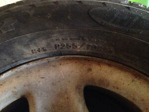 4 used gmc truck tires with some life left Cambridge Kitchener Area image 2