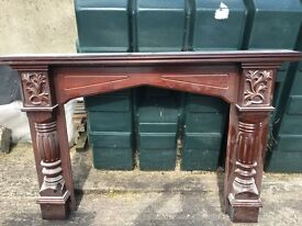 Mahogany fireplace surround