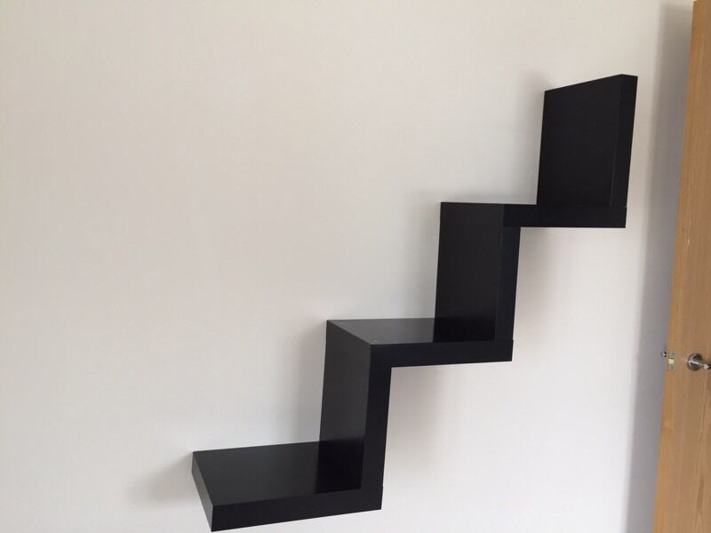Ikea Lack Zig Zag Floating Shelf Black In Chatham Kent