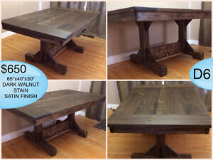 CUSTOM SOLID WOOD RUSTIC DINING TABLES, BENCHES AND MORE Kingston Kingston Area image 4