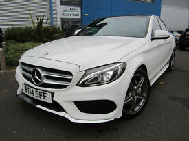 Mercedes-Benz C200 2.0 ( 181bhp ) 7G-Tronic Plus 2015MY C200 AMG Line Premium