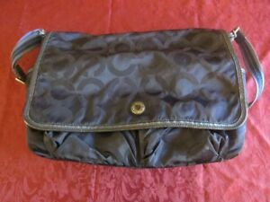 COACH Navy Blue Diaper Bag