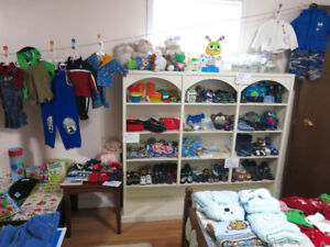 Baby and Toddler Items Multi-Family Indoor Garage Sale