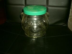 1989 KRAFT BEAR PEANUT BUTTER COLLECTIBLE GLASS  JAR Edmonton Edmonton Area image 2